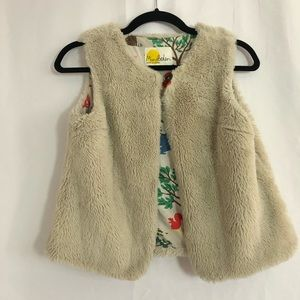 Mini Boden Vegan Fur Vest Fully Lined 11-12
